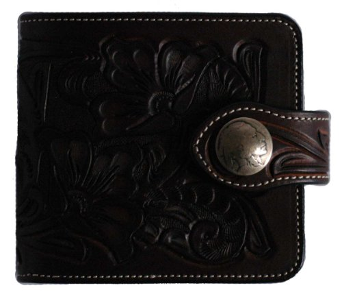 KC, S Leder Craft Billfold Wallet/W Lizenz Fall Farbe Braun handgefertigt in Japan