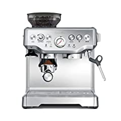 Dose control grinding: Integrated conical burr grinder grinds on demand to deliver the right amount of freshly ground coffee directly into the portafilter for your preferred taste with any roast of bean Precise espresso extraction: Digital temperatur...