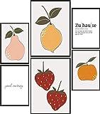 Papierschmiede® Mood-Poster Set Früchte | 6 Bilder als
