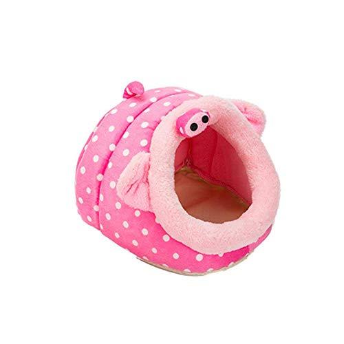 Fransande Cama para mascotas clida para animales pequeos, cama de cerdo holands, nido de hmster, erizo, rata, chinchilla, guinea, hbitat