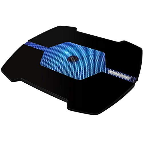 QUD Koel Laptop Pad 17-inch mini USB gevoede 12CM LED-lamp ventilator anti-slip notebook Cooler sterke wind voor gamers 20/3/17