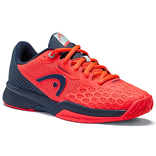 HEAD Revolt Pro 3.5 Junior Tennis Shoe, Neon Red/Dark Blue, 38 EU