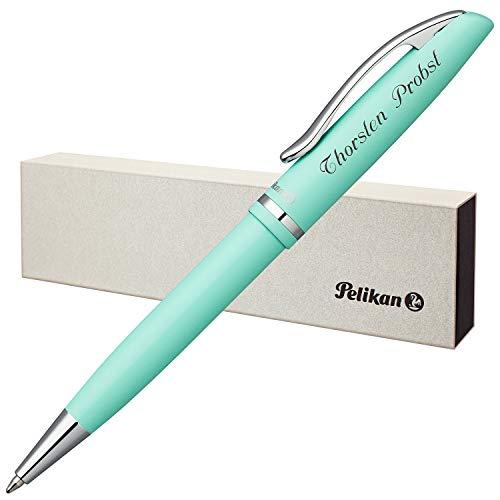 Pelikan Kugelschreiber JAZZ PASTELL Mint mit persönlicher Laser-Gravur