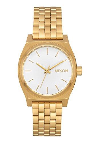 Nuevo Nixon Medium Time Teller reloj todo oro blanco