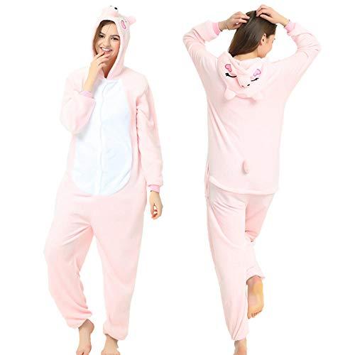Pijama Entero Mujer con Pijamas De Animales Onesie Todo En Uno Rosa Cerdito