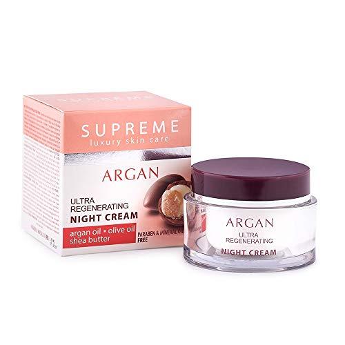 Régénérant Crème de soin nuit anti-âge avec Beurre de Karité & Huile d'Argan & Huile d'Olive