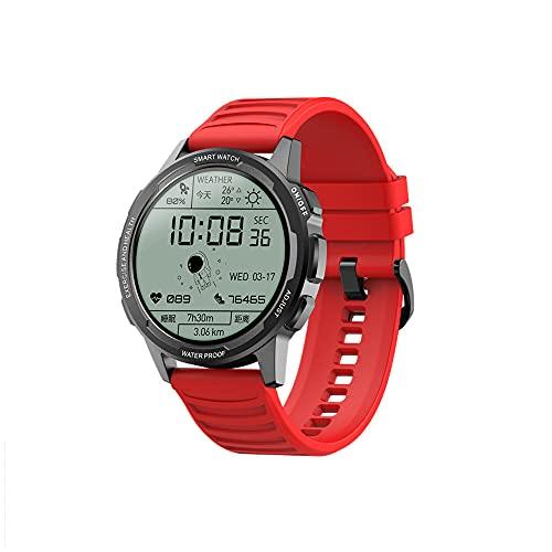 Micky Lee Smart Watch Fitness Tracker para Hombres y Mujeres Smartwatch con rastreador de la Calidad del sueño para teléfonos iPhone Android, diales Personalizables, IP68 a Prueba de Agua (Red)