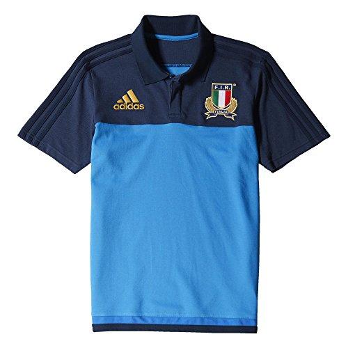 adidas Herren Poloshirt Italien, Blau/Dunkelblau, S