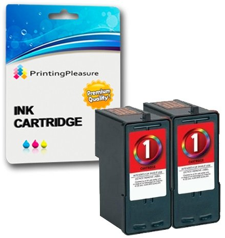 2 Couleur Cartouches d'encre compatibles pour Lexmark X2300 X2310 X2315 X2320 X2330 X2340 X2350 X2390 X2450 X2470 X2480 X3450 X3470 X3480 Z730 Z735 | Remplacement pour Lexmark No. 1 (18C0781E)
