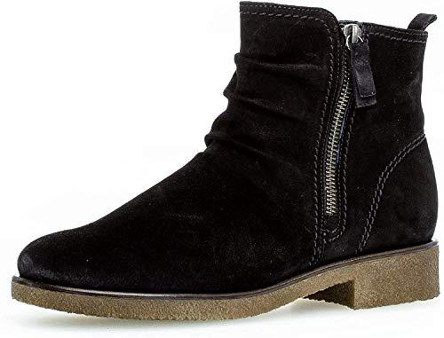 Gabor Damen Biker Boots 32.702, Frauen Stiefelette,Stiefel,Halbstiefel,BikerBootie,flach,Pazifik (Micro),40 EU / 6.5 UK