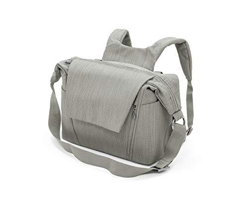 STOKKE® Wickeltasche - Windeltasche mit faltbarer Wickelunterlage - Farbe: Brushed Grey