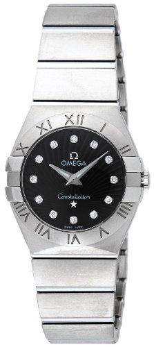 [オメガ] 腕時計 コンステレーション ブラック文字盤 100M防水 ダイヤモンド 123.10.27.60.51.001 並行輸入品