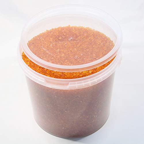 KnePo Kunststofftechnik 1 kg Silica Gel Orange regenerierbar, Trockenmittel mit Indikator, Silikagel