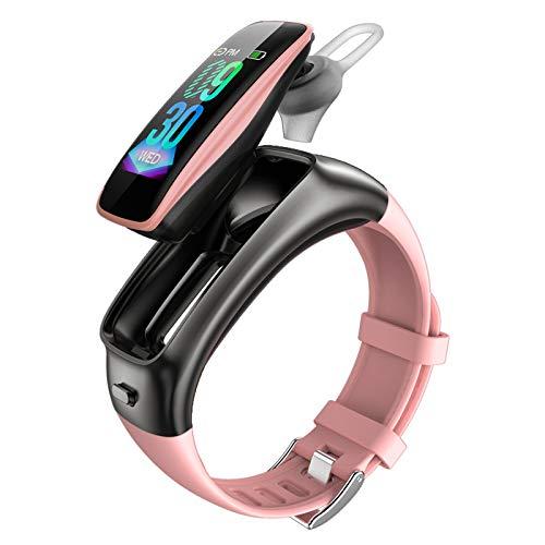 SINJES braccialetto intelligente, passi di esercizio, sveglia vibrazione, rilevamento della frequenza cardiaca, orologio intelligente con quadrante staccabile (rosa)