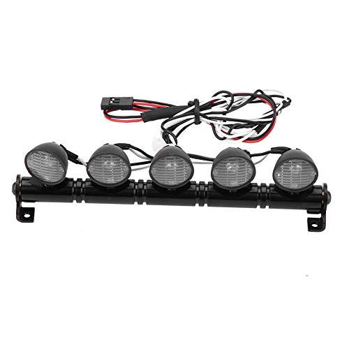 Auto faro principale RC, 5 LED barra luminosa metallo bianco cerchio cerchio lampada accessorio parte per AXAIL scx10 D90 110 Tamiya CC01 RC automodellismo