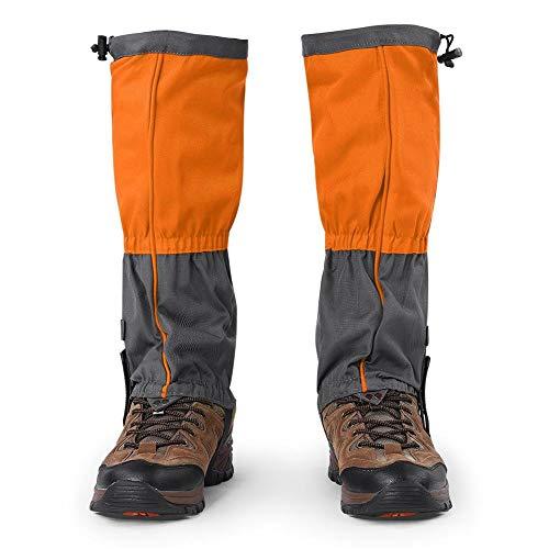 Dioche Gamasche Schuhe Abdeckung, Outdoor wasserdichte Sport Klettern Wandern Legging Gamaschen Schuh Stiefel Abdeckung für Erwachsene (1 Paar)(Orange)
