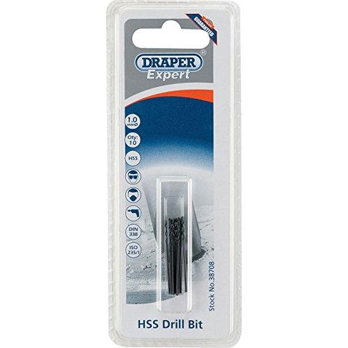Draper 38708 Expert HSS Drill Bit, 1.0mm Ø, Pack of 10