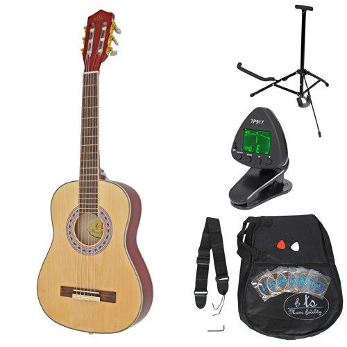 ts-ideen 53211 Guitare acoustique de concert 1/4 pour enfants guitare en brun...