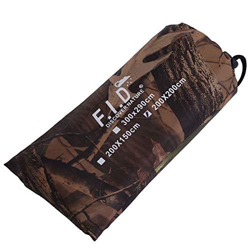 TAKE FANS Wasserdichte Armee-Camouflage-Zeltplane, Baldachin, Vorzelt, Regenschutz, Camping-Unterschlupf für Wandern, Rucksackreisen und Outdoor-Abenteuer (2 x 1,5 m)