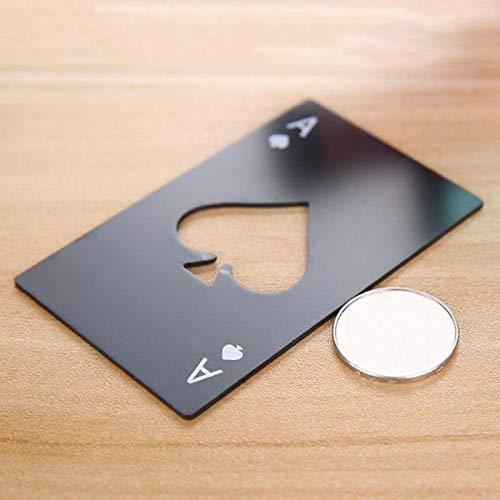 TWDYC Black Card Poker Forme bière décapsuleur Bouteille personnalisée en Acier Inoxydable Carte Opener de Accessoires Pub Spades