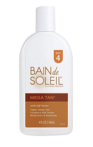 Bain De Soleil Mega Tanning Lotion SPF 4, 4 oz