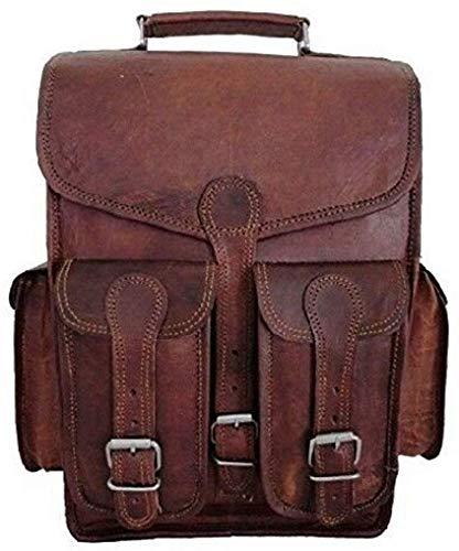 GNG - Vintage Bag leer handgemaakt vintage stijl rugzak/college bag 11 x 15