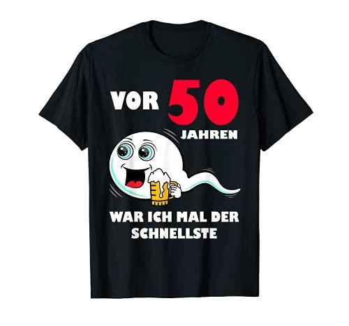 Herren Vor 50 Jahren war ich mal der Schnellste 50. Geburtstag Mann T-Shirt