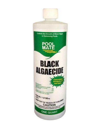 Pool Mate 1-2190 Black Algaecide for Swimming Pools, 1-Quart