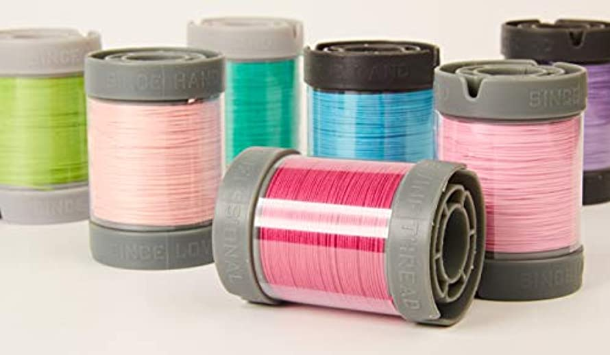 Since Leather Linen Thread for leathercraft M40/0.45MM (Blue Electric, 0.45MM-90/SPOOL)