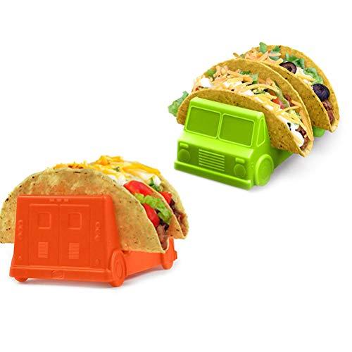 Ububiko Taco Halter Ständer, Taco-Halterung, gesundes Material, für Taco-Grillroste für Tortilla/Burrito/Hotdog, Backofen, Geschirrspüler, Grill