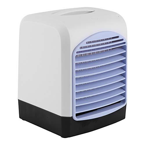Oumefar Ventilador de enfriamiento de la mesa, refrigerador de aire del ahorro de dinero, oficina del dormitorio para el hogar
