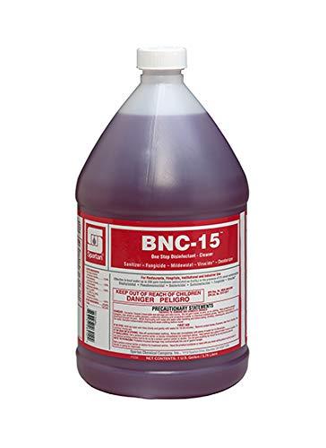 Spartan Chemical BNC-15 Sanitizing Solution Non-Acid Disenfectant, Virucide, Sanitizer, Fungicide, Mildewstat. (1 Gallon)
