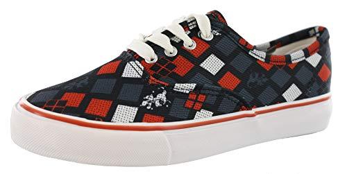 DC Comics Harley Quinn Halftone Black/Red Womens Lo Pro Shoes (9.5)