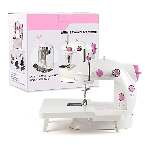 NEX Mini Sewing Machine, Portable Sewing Machine for Beginner, Adjustable Dual Speed Double Thread, Needle Protector, Extension Table
