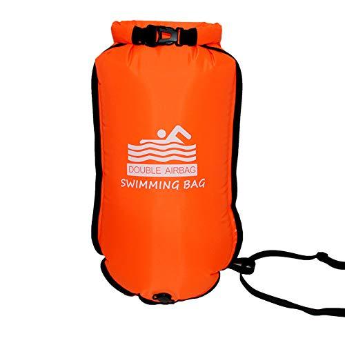 Xpccj - Flotador de remolque para nadar, impermeable, boya de natación, flotador de seguridad para nadadores, triatletas (70 x 37 cm)