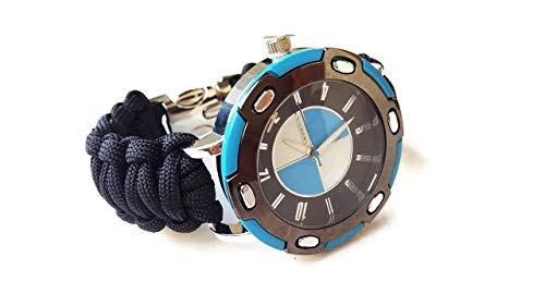 Orologio sportivo da polso uomo nero paracord Bracciale di corda Regalo personalizzato lui fidanzato