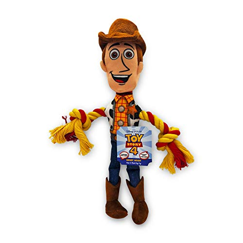 Hyper Pet Disney's Toy Story 4 Woody Rope (Plush Dog Toy with Squeaker - Ideal for Interactive Play)