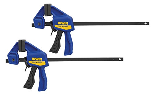 IRWIN QUICK-GRIP Bar Clamp, One-Handed, Micro, 4-1/4-Inch, 2-Pack (1964747)