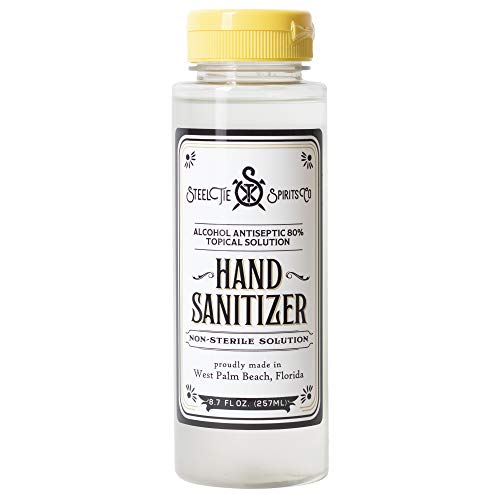 Steel Tie Hand Sanitizer (4-Pack) - 80% Alcohol Based Hand Sanitizer Gel - Unscented - Made in the USA