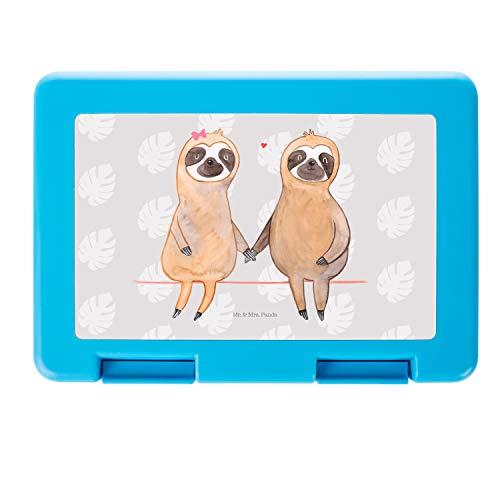 Mr. & Mrs. Panda Brotbox, Butterbrotdose, Brotdose Faultier Pärchen - Farbe Grau Pastell