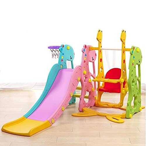 HXXXIN Mini Cavallo A Dondolo Stile Familiare Set da Interni per Bambini Scale Ragazza Arrampicata Scivolo Semplice Regalo Combinazione di Scivoli Multifunzionali