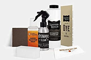 Automotive Leather/Vinyl Repair Dye Kit for Infiniti/Nissan with Leather Master Protection Cream (16oz, Sage Gray)