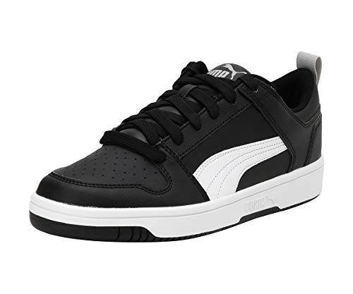 PUMA Rebound Layup Lo SL Jr, Sneaker, Nero Black White-High Rise, 36 EU