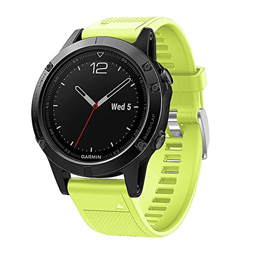 Review XZZTX Compatible with Garmin Fenix 5 Plus Band, Soft Silicone Strap Compatible for Garmin Fen...