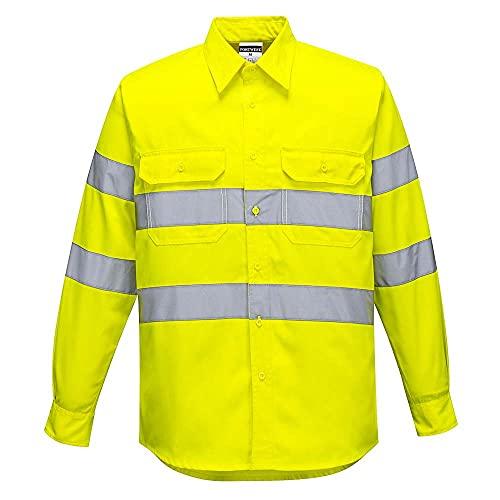 Portwest E044 Camicia Alta Visibilità, Giallo, XL