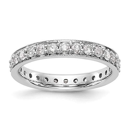 14k Rose Gold Vintage 1 cttw Diamond Eternity Wedding Band Ring