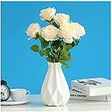 White Vase for Flowers Unbreakable,Ceramic Look Plastic...