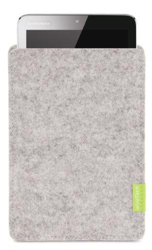 WildTech Sleeve für Lenovo IdeaPad MIIX2-8 - 17 Farben (Handmade in Germany) - Hellgrau