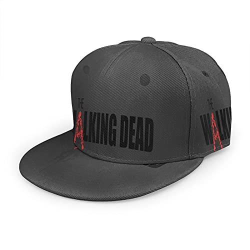 MARTHLORES El Walki-Ng Dead Logo Moda Ajustable Casual Snapback Gorra De Béisbol, Unisex Impresión 3D Plana Bill Hip Hop