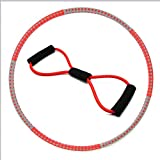N\A Esercizio Band + Yoga Hula Hoops for la Donna Adulti, ponderata Hula Hoop for Adulti, Staccabile Hoola Hoops for Vita Sottile Fitness Sport Esercizio Vita Trainer Circle Lose Weight (Color : -)